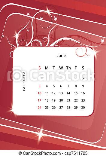 June calendar 2012 - csp7511725
