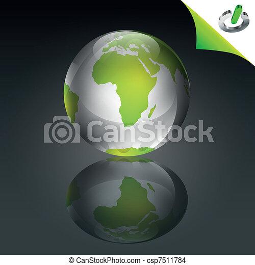Conceptual Green Globe - csp7511784
