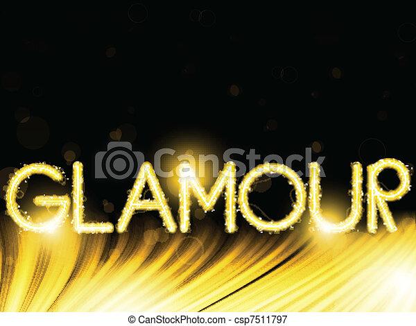 Lights Stripes Wave Glamour Golden - csp7511797