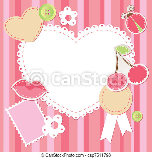 cute pink scrap set - csp7511798
