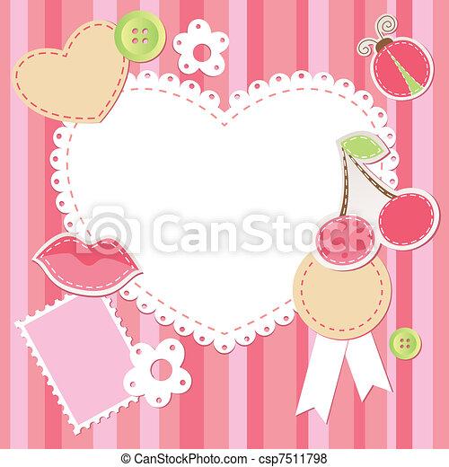cute pink scrap set - csp7511798