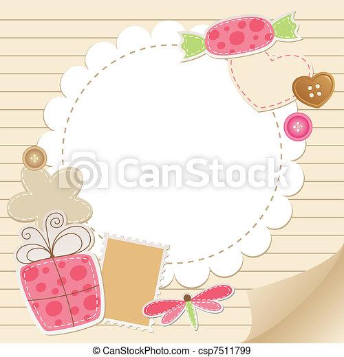 cute vintage greeting card - csp7511799