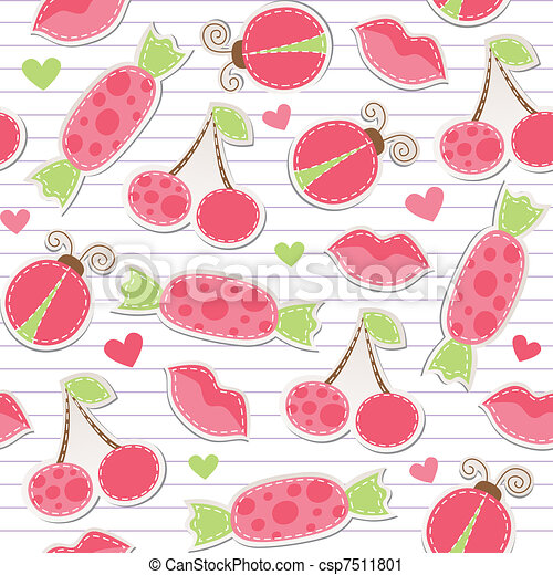 cute pink seamless pattern - csp7511801