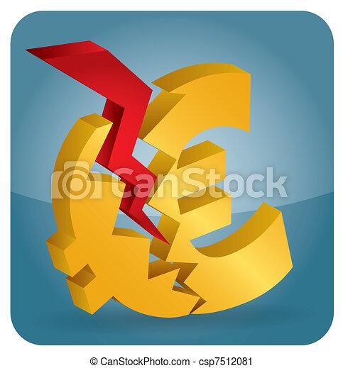 Euro crash? - csp7512081