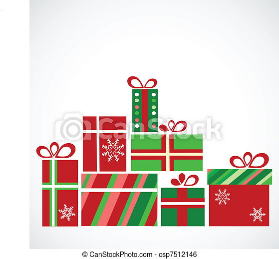 pile of presents for christmas - csp7512146