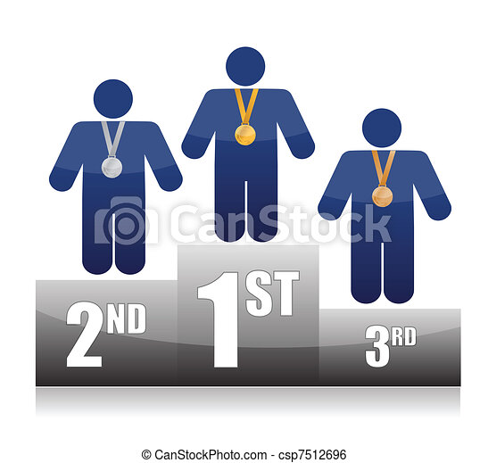 Clip Art Vector of first place on cooking contest. illustration ...