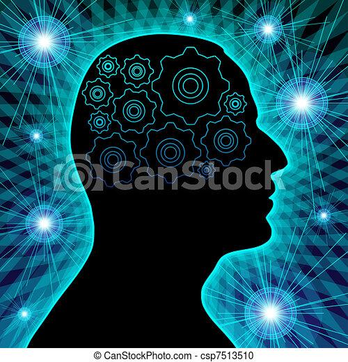 Human head silhouette - csp7513510