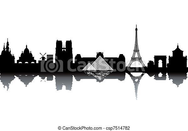 Paris skyline - csp7514782