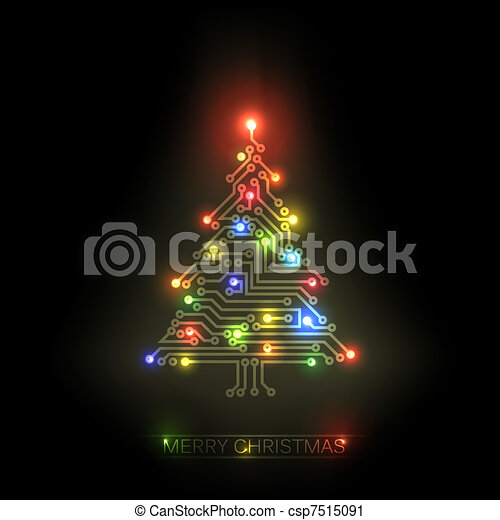 Vector christmas tree from digital circuit - csp7515091