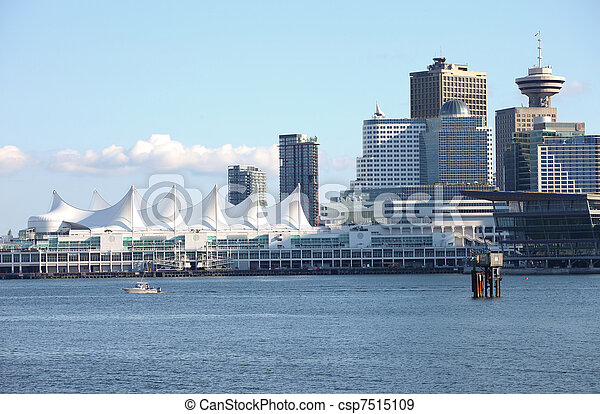 Canada Place & Vancouver BC skyline, Canada. - csp7515109