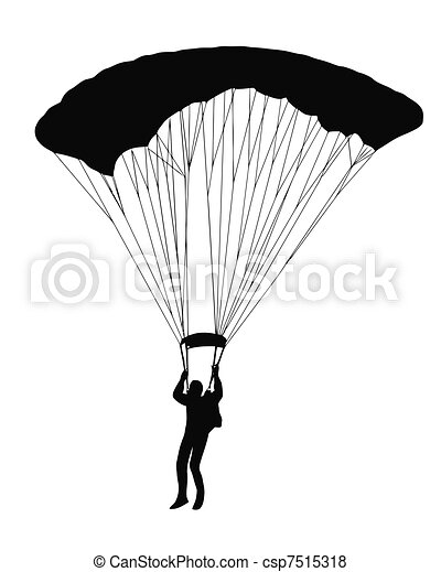 Sky Diver with parachute - csp7515318