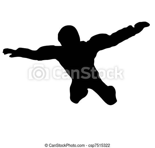 Sky Diver free falling - csp7515322