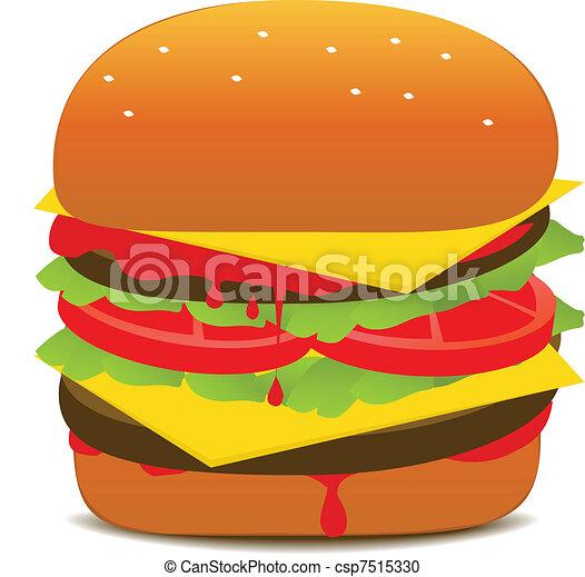 Tasty Hamburger Illustration - csp7515330