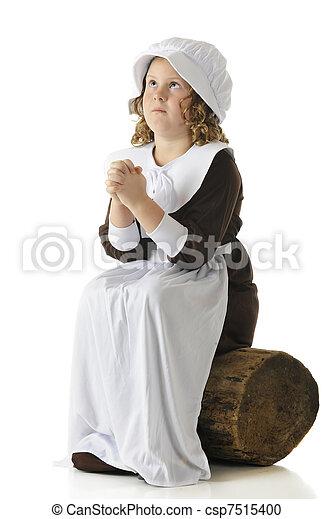 Pilgrim Girl's Prayer - csp7515400