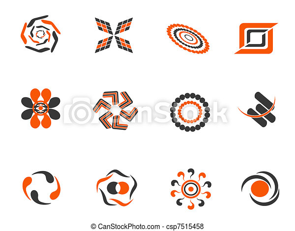 color abstract design elements - csp7515458