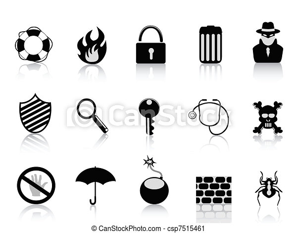 black security icon set - csp7515461