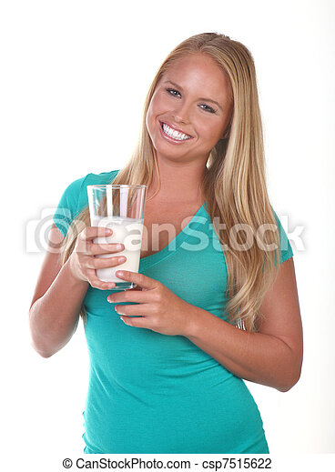 Healthy Young Woman Eating Nutritious Food - csp7515622