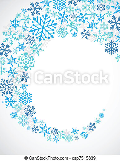 Christmas blue background with snowflakes pattern - csp7515839