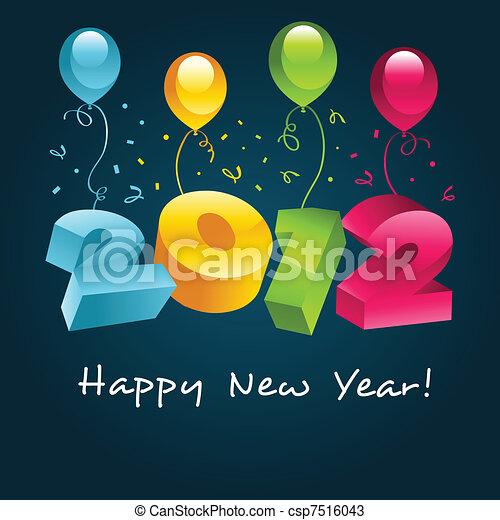 Happy New Year 2012 - csp7516043