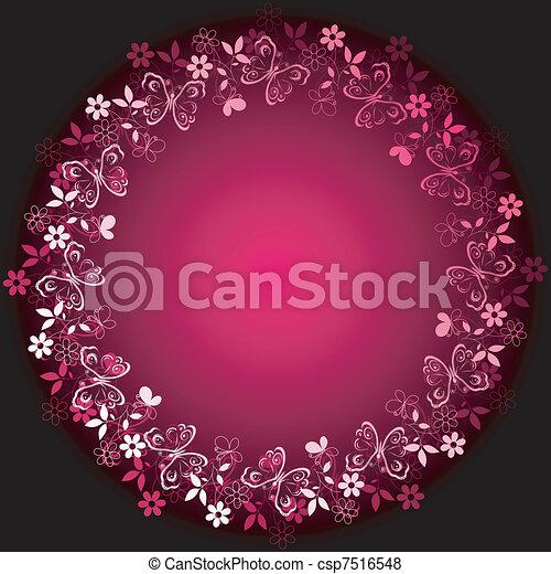 Vivid floral frame - csp7516548