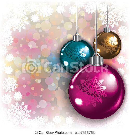 Abstract background with Christmas decorations - csp7516763