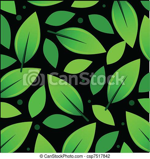 Leaves Pattern Illustration - csp7517842