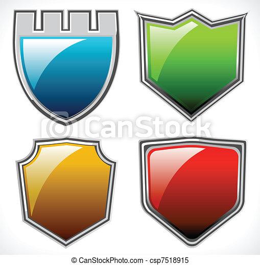 Set of vector shields - csp7518915