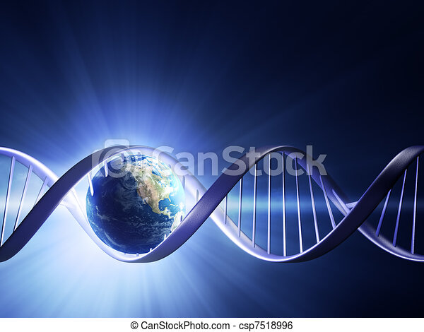 Glowing earth DNA strand - csp7518996