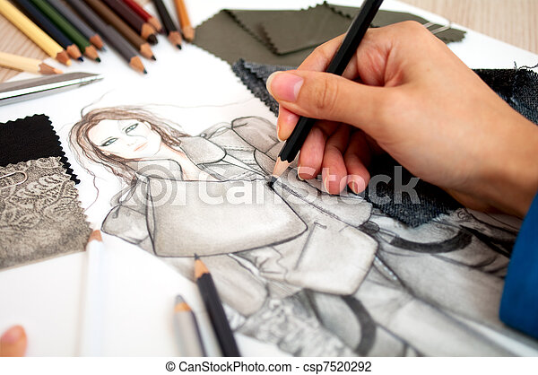 moda, Desenhista - csp7520292