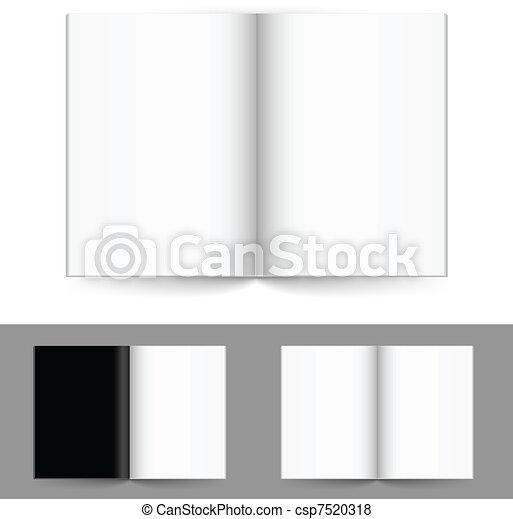 Realistic magazine set number four - csp7520318