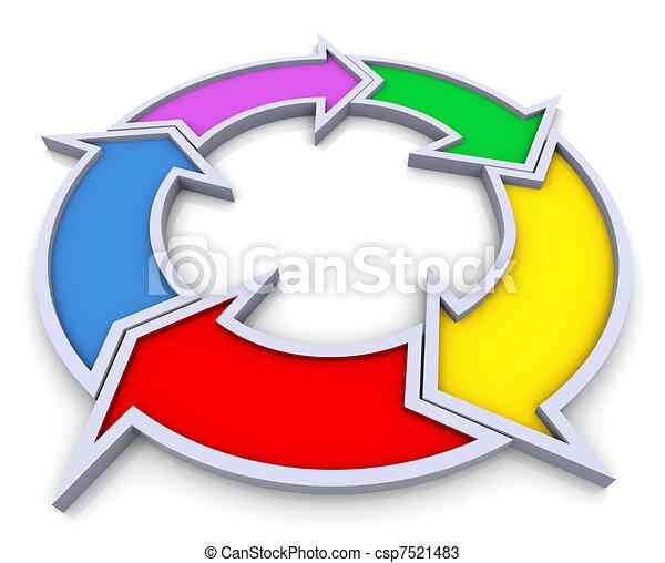 3d flowchart diagram - csp7521483