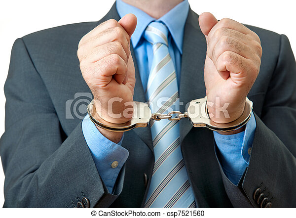 businessman under arrest - csp7521560