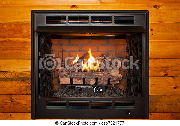 Picture Of Fireplace Whole Lit Electric Fireplace Built Into Log Csp7521777 Search Stock