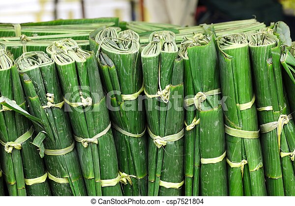 wrapped banana leaves - csp7521804