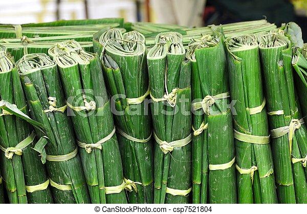 wrapped banana leaves - csp7521804