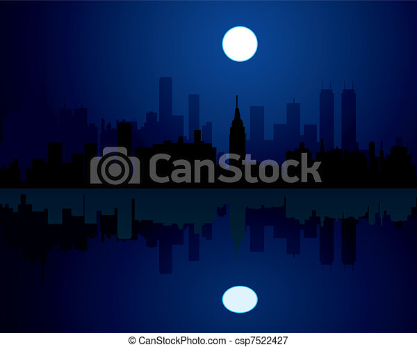 city at night  - csp7522427