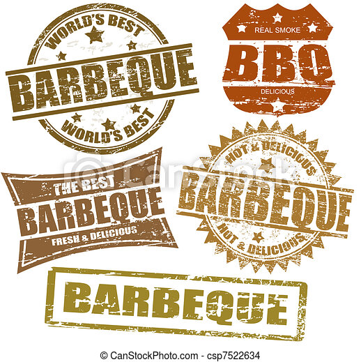 Barbeque stamps - csp7522634