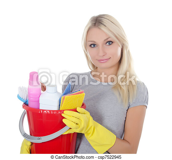 Portrait of the girl - concept Cleaning - csp7522945