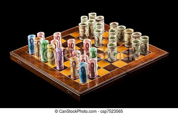 Currency exchange rates concept - csp7523565