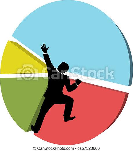 Business man reaches big market share - csp7523666