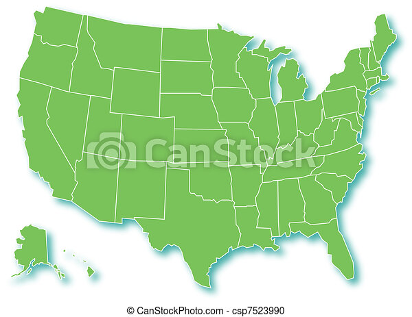 Map of USA - csp7523990