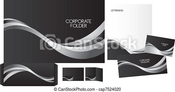set of corporate identity - csp7524020