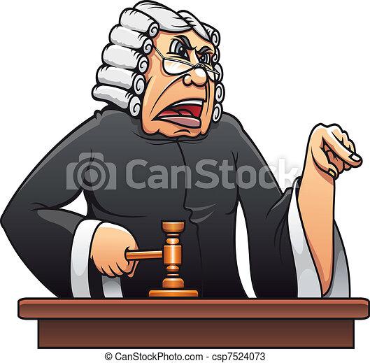 Judge with gavel - csp7524073