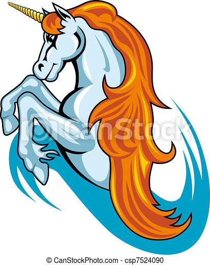 Fantasy unicorn horse - csp7524090