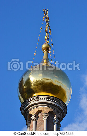 Dome of Church of the Savior on Blood - csp7524225