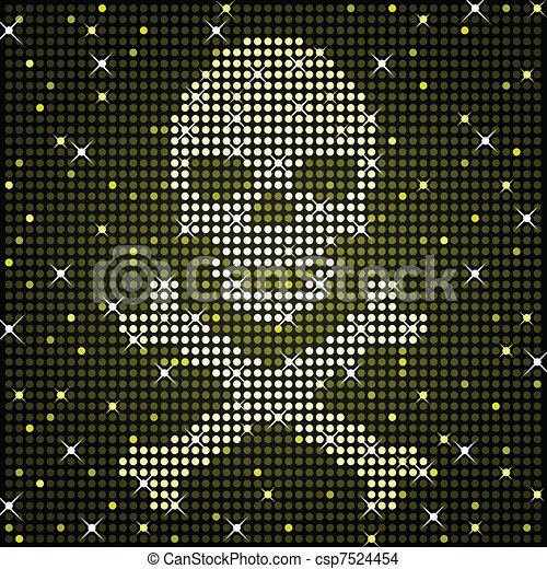 Sparkly skull - csp7524454