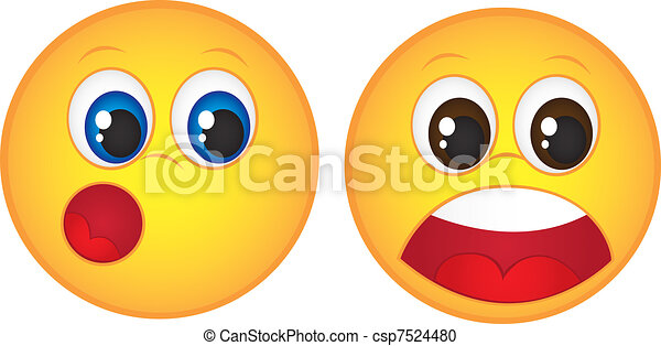 faces of surprise - csp7524480