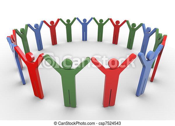 3d people social network - csp7524543
