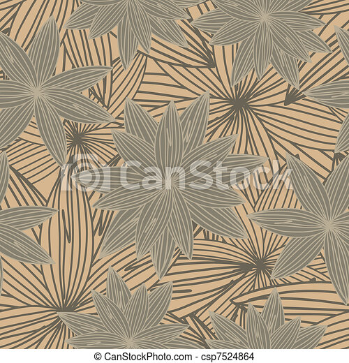 Brown floral background - csp7524864