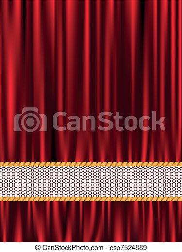 Red silk background - csp7524889
